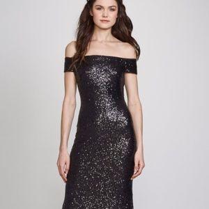 "Theia ""Leigh"" Bridesmaid Dress in Black - Size 6"